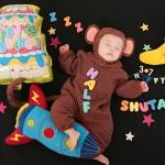 大阪の初節句・ハーフバースディ写真撮影スタジオ・ハニーアンドクランチの洋装のフォトギャラリーH179