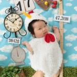 大阪の初節句・ハーフバースディ写真撮影スタジオ・ハニーアンドクランチの洋装のフォトギャラリーH211