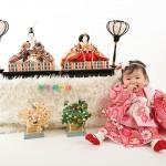 大阪の初節句・ハーフバースディ写真撮影スタジオ・ハニーアンドクランチの和装のフォトギャラリーHW087