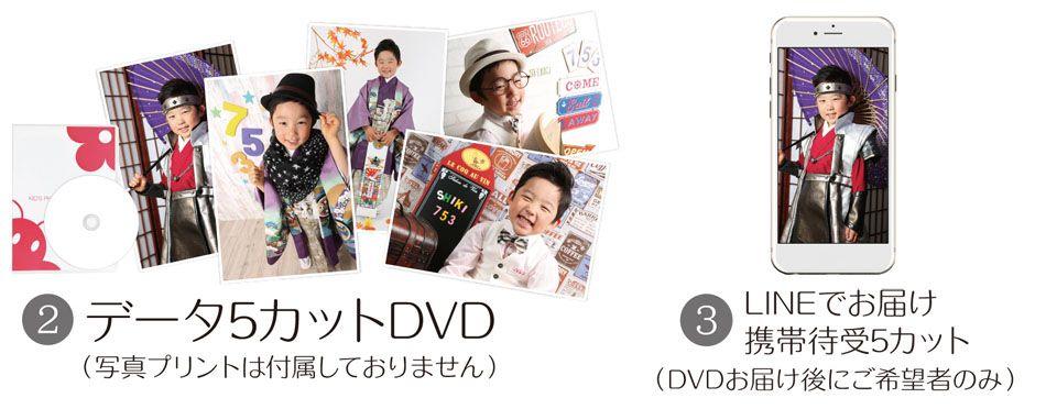 大阪で七五三写真撮影ならハニーアンドクランチのポートレートシンプル27,800円コース竹