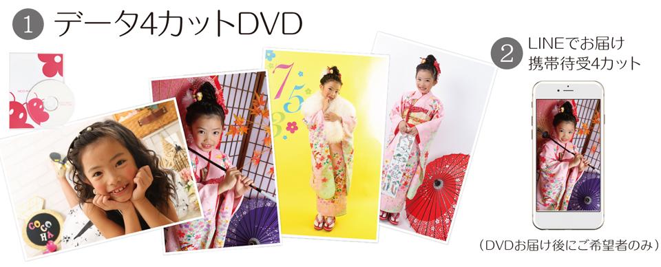 大阪で七五三写真撮影ならハニーアンドクランチのデータ4カットコース