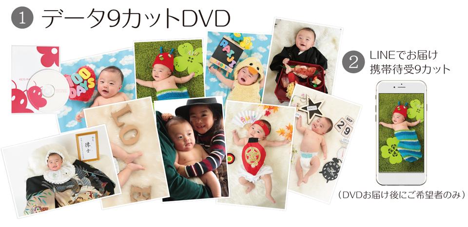 大阪で七五三写真撮影ならハニーアンドクランチのデータ9カットコース