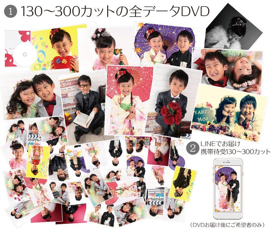 大阪で七五三写真撮影ならハニーアンドクランチのデータフルパックコース