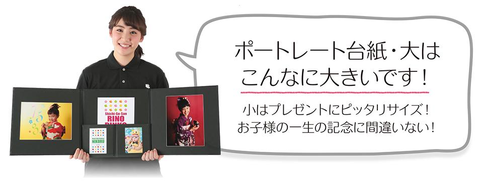 大阪で七五三写真撮影ならハニーアンドクランチのポートレートのサイズ