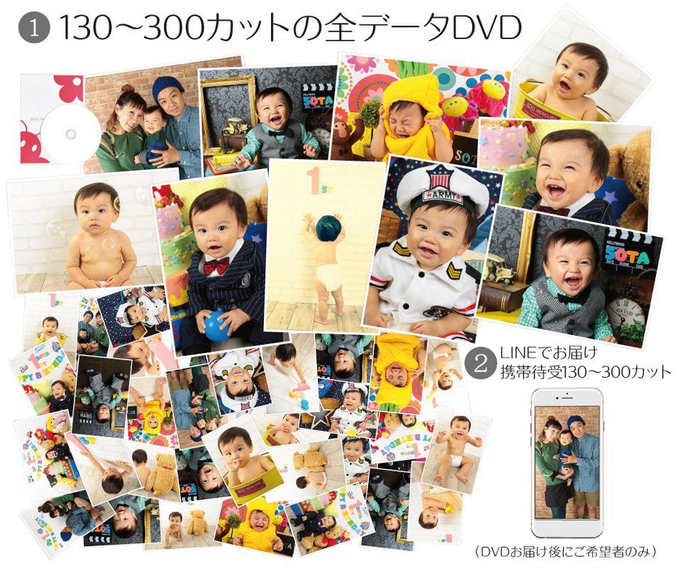 大阪でお宮参り写真撮影ならハニーアンドクランチのデータフルセット