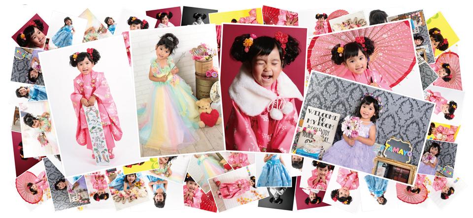 大阪で七五三写真をおしゃれにスタジオ・写真館で撮影したいママがハニクラを選ぶ理由案内写真全写真