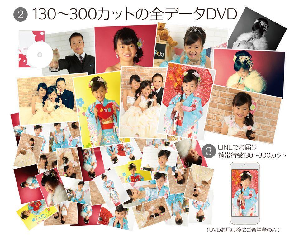 大阪で七五三写真撮影ならハニーアンドクランチのポートレート特別セットキャンペーンの全データ画像
