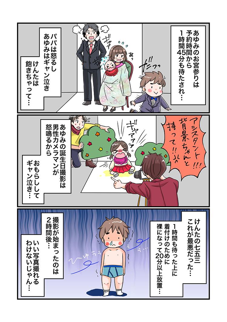 大阪七五三写真がマンガでわかるハニクラ03