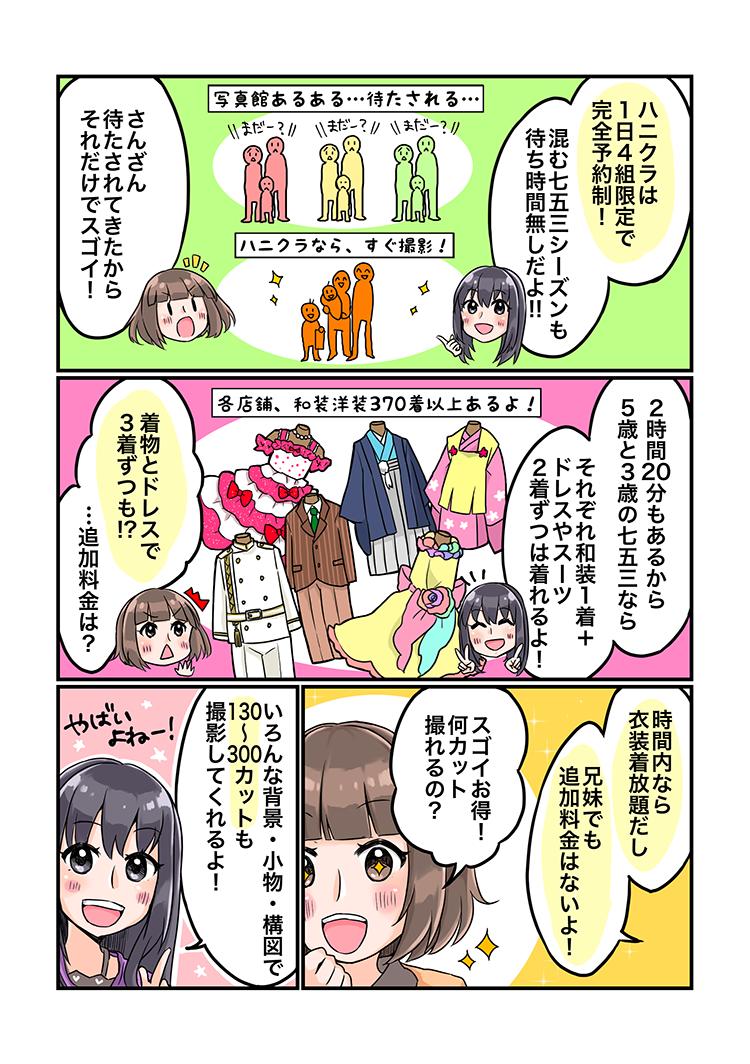 大阪七五三写真がマンガでわかるハニクラ05