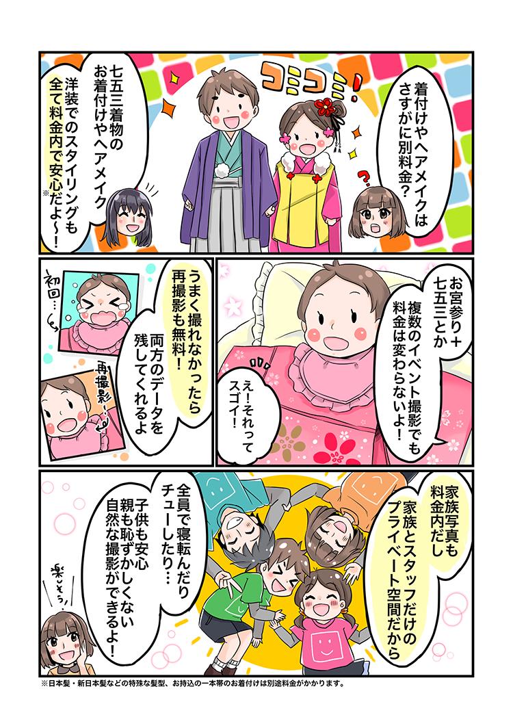 大阪七五三写真がマンガでわかるハニクラ06