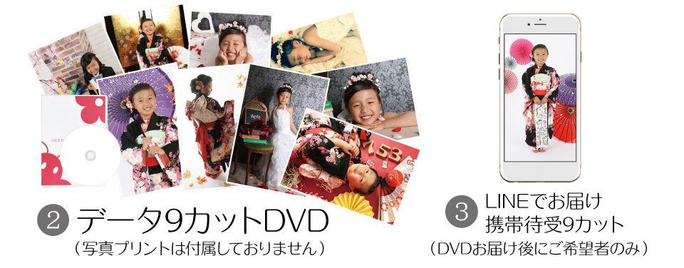 大阪で七五三写真撮影ならハニーアンドクランチのポートレートシンプル34,800円コース