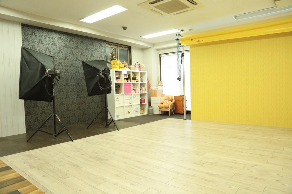 七五三写真撮影スタジオハニーアンドクランチ心斎橋北堀江店のスタジオ写真