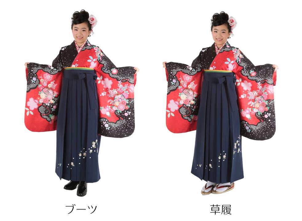 卒業式の袴レンタルのブーツと草履
