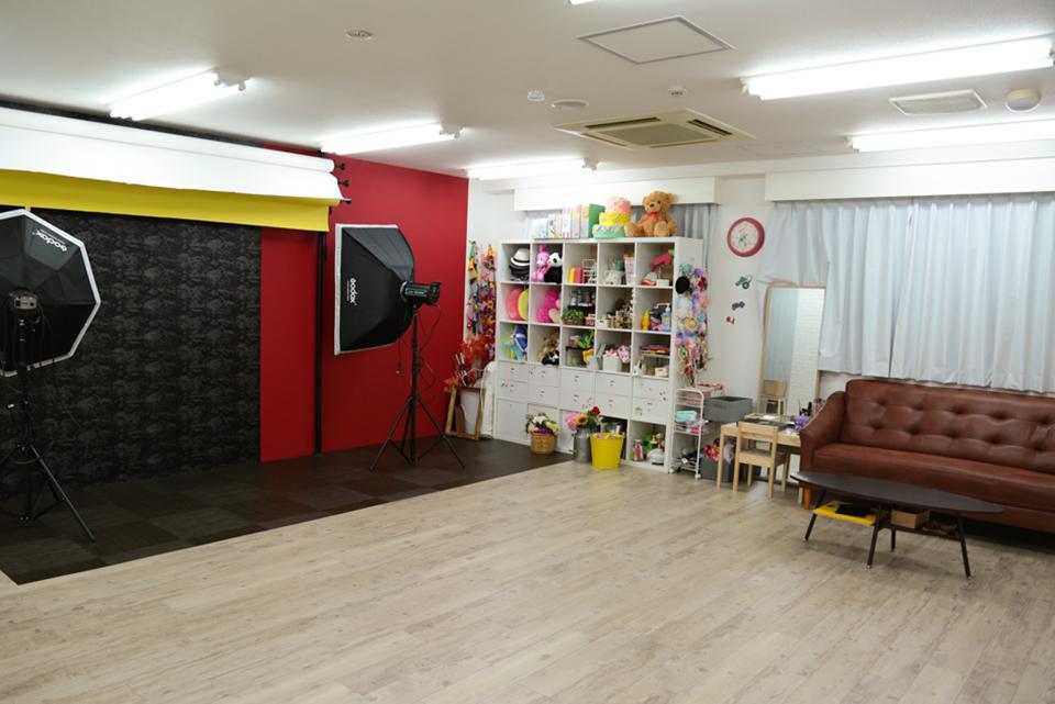 七五三写真館スタジオハニーアンドクランチ堺東駅前店の店舗室内写真