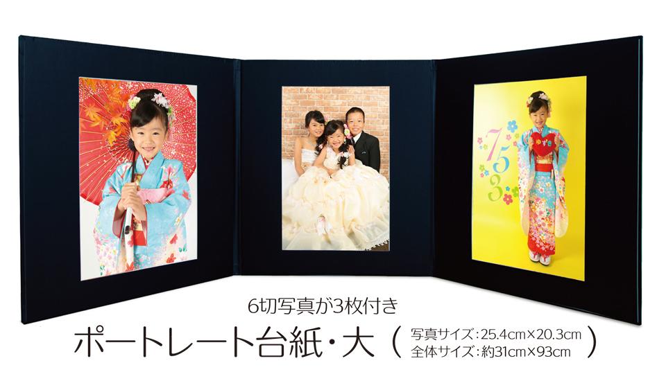 大阪で七五三写真撮影ならハニーアンドクランチのポートレート特別セットキャンペーンの台紙画像