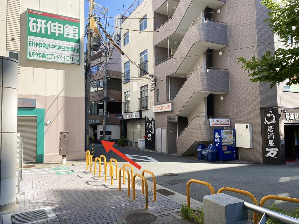 七五三写真館ハニーアンドクランチ神戸東店への道順04